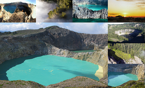 Danau kelimutu oleh dunia disebut sebagai salah satu dari sembilan keajaiban dunia