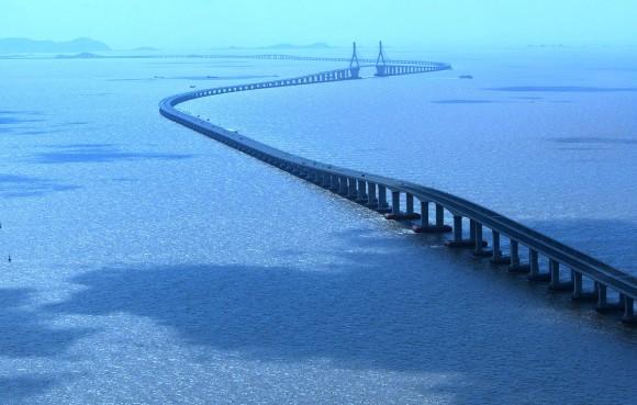Hangzhou Bay Bridge (Cina): World's Longest Trans-Oceanic Bridge