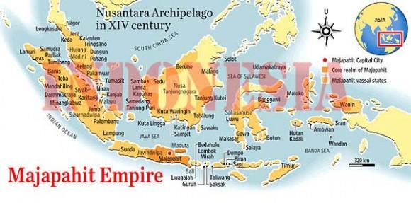 Peta Indonesia di zaman majapahit
