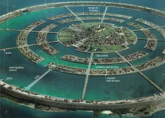 Bangsa Atlantis lalu membangun jembatan ke arah utara dari pegunungan
