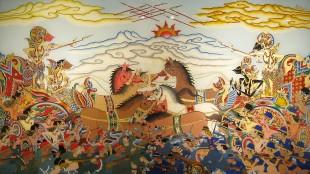Bharatayudha (Perang selama 18 hari dengan korban 9.539.050)