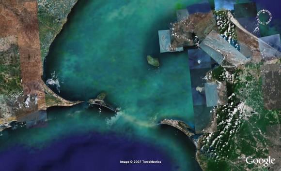 Sri Rama Bridge hasil pantauan NASA