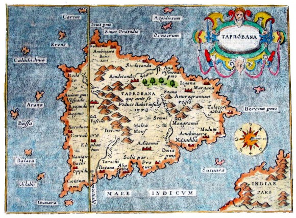 Taprobane adalah Sundaland yang dikisahkan kaya dengan emas, batuan mulia