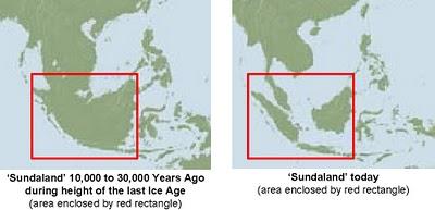 Peta sundaland sebelum dan sesudah  tenggelam