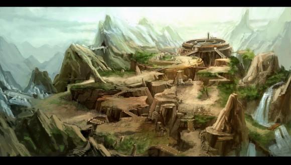 Gambar PERADABAN LEMURIA yang hancur