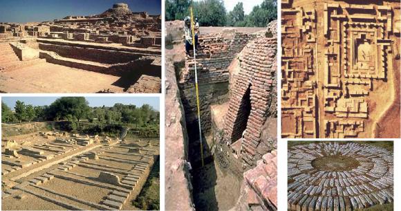 Gambar kota Mohenjo Daro yang ditemukan