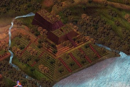 Sketsa konsruksi gunung padang