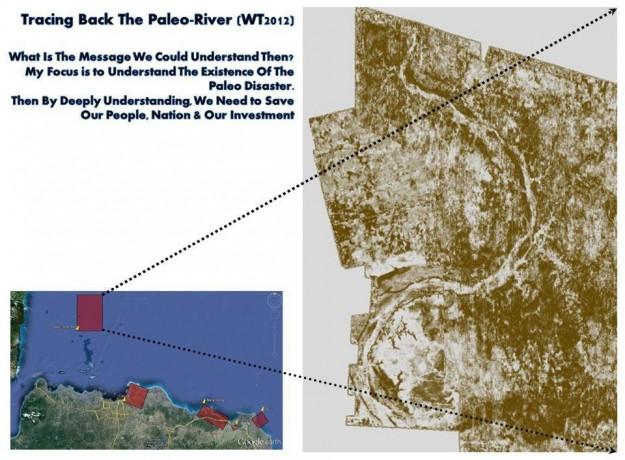 Jejak sebuah sungai purba di utara Laut Jawa