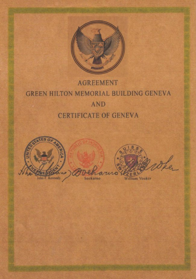 """The Green Hilton Memorial Agreement "" Perjanjian yang Menggemparkan Dunia"