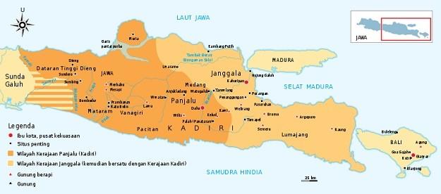 Peta Kerajaan Kediri