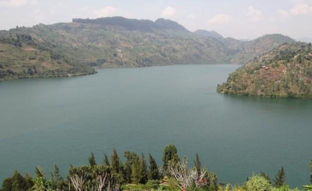 Danau Kivu di perbatasan antara Republik Demokratik Kongo dengan Rwanda, di Afrika Tengah