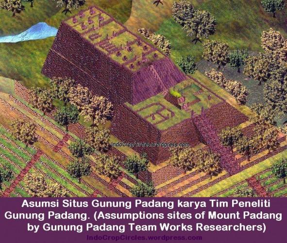 Gunung Padang , Hubungan Struktur Dengan Morfologi Permukaan