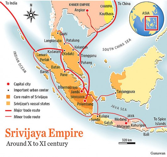 Sriwijaya empire map
