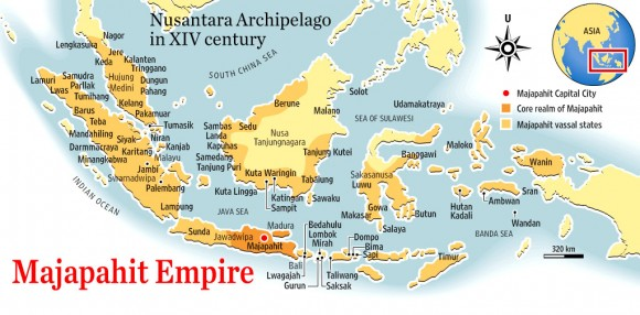 majapahit empire map