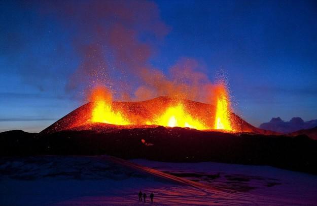 Gunung Eyjafjallajökull, Islandia