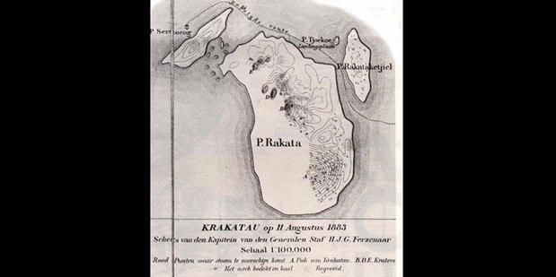 Peta Terakhir Jelang Letusan Dahsyat Krakatau