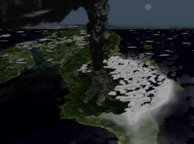 letusan gunung toba terdahsyat di dunia