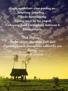 Contoh Puisi Bahasa Sunda Pendek