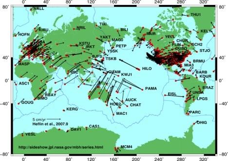 Arah dan kecepatan lepeng tektonik