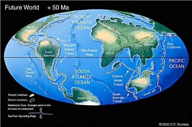 Bumi masa depan 50 juta tahun lagi