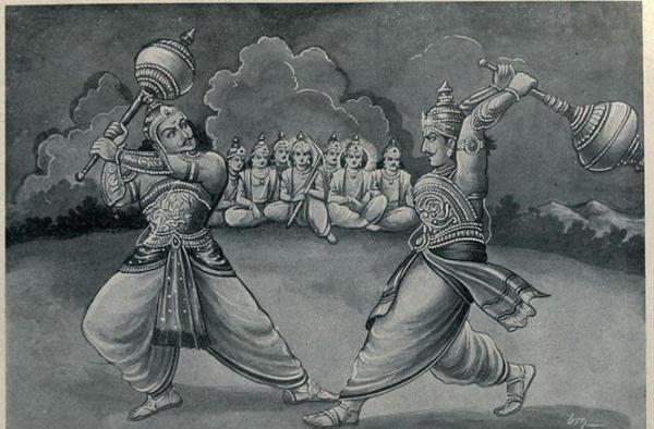 Pertarungan Bima melawan Duryodana