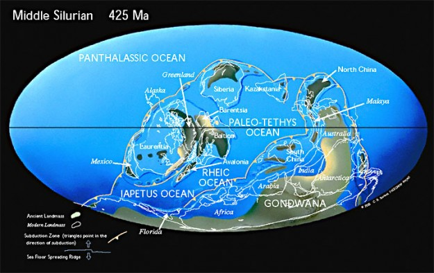 Zaman Silur tengah 425 Mya