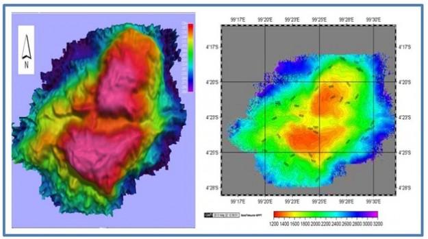 Gunung Raksasa Sumatra Diameter 50 Km Tinggi 4,6 Km